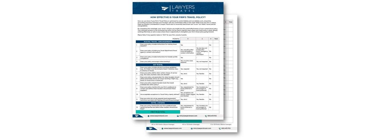 Lawyers Travel Policy Scorecard Blog Image